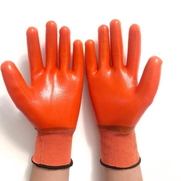 勞保手套 防水PVC滿掛膠全浸膠加厚加大耐磨耐油工作掛膠手套  錢夫人小鋪