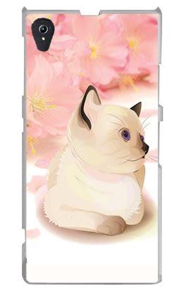 ♥ 俏魔女美人館 ♥ { 櫻花貓咪*水晶硬殼}索尼Sony Xperia z1/c6902 手機殼 手機套 保護套