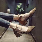 尖頭涼鞋綁帶瑪麗珍鞋子