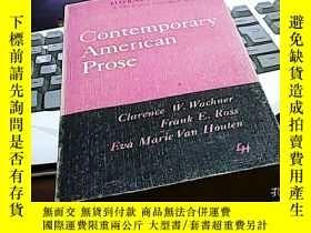 二手書博民逛書店Contemporary罕見american prose當代美國
