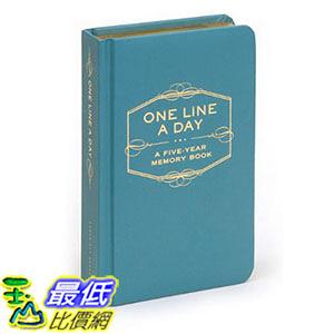 [ 美國直購 2016 暢銷書] One Line a Day: A Five-Year Memory Book Diary