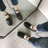 學生原宿圓頭學院風韓版英倫娃娃鞋女