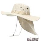 帽子男士夏遮陽防曬漁夫帽加大碼大帽檐大頭圍盆帽戶外騎車釣魚帽 傑森型男館