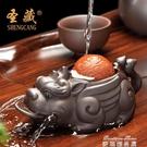 荼寵 茶寵擺件配件可養招財金蟾噴水蟾蜍創意茶蟲迷你荼寵茶龐茶玩Z 麥琪精品屋