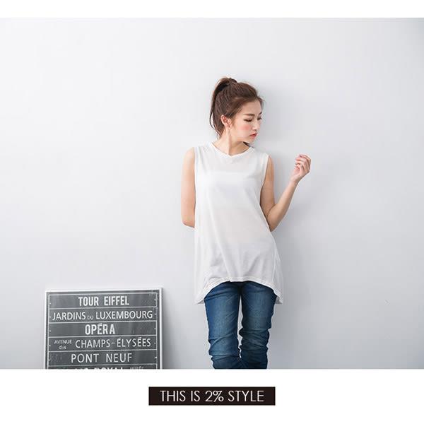 【2%】素色簡約背心-黑