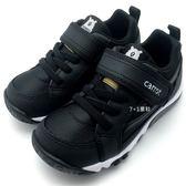 《7+1童鞋》中童 MOONSTAR CARROT 日本月星 熊熊休閒款 機能鞋 運動鞋 C440 黑色