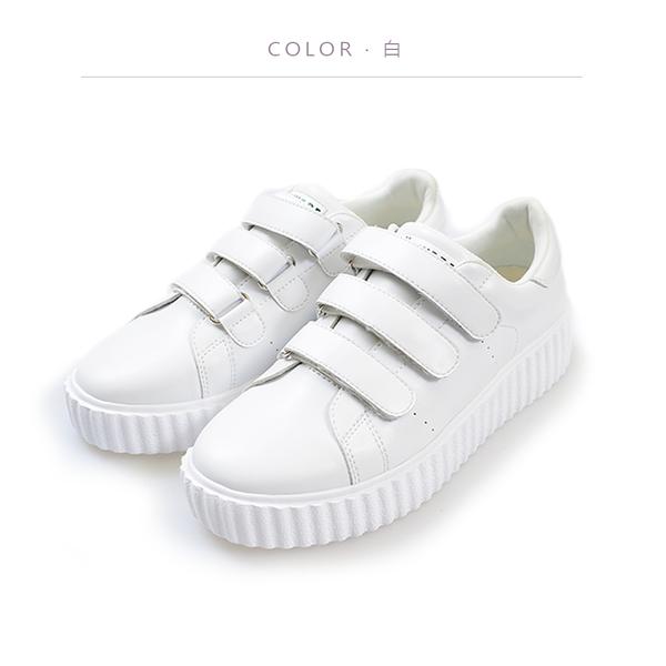ORWARE-輕量舒適魔鬼氈休閒鞋 652090-01白