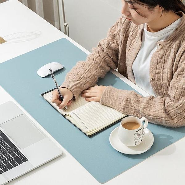 暖桌墊 防水超大號鼠標墊電腦桌墊鍵盤墊辦公學生兒童寫字臺皮革墊 雙十一狂歡