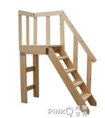 家用整體樓梯轉角平台樓梯 直梯複式閣樓loft層簡易實木平台樓梯CY (pink Q 時尚女裝)