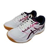 (C1) ASICS 亞瑟士 UPCOURT 4 GS 兒童 排球鞋 1074A027-102 白X桃紅 [迦勒]