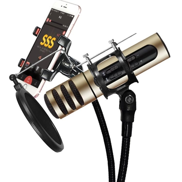 KAGASI/卡佳西 神器手機電容麥克風 直播唱歌聲卡套裝話筒