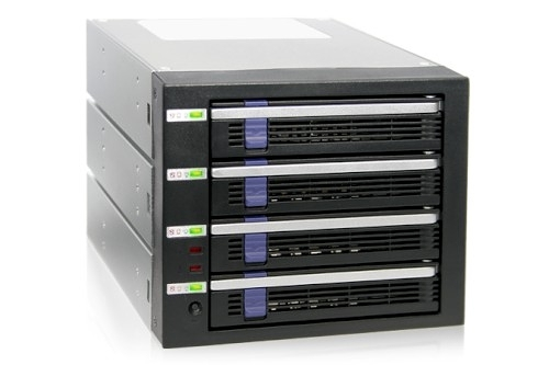 "ICY DOCK DataCage Classic 四層式 附 EZ-Tray 3.5"" SATA HDD (4轉3) 監控硬碟背板模組 MB454SPF-B"
