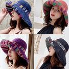 民族風雙色雙面大帽沿遮陽帽 雙面可戴 ZJ0449 防曬帽 漁夫帽 波希米亞風 流浪嬉皮風