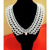FA-005奢華珍珠串鍊假領子項鍊飾品-美之札 特價出清不退