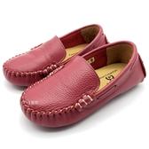 《7+1童鞋》普萊米PRVITE 真皮 休閒鞋 懶人鞋 輕便鞋 豆豆鞋 E544 桃色