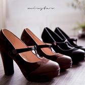 現貨-MIUSTAR 牛皮丁字細帶防水台粗跟高跟鞋(共2色,36-39)【NE4310T1】
