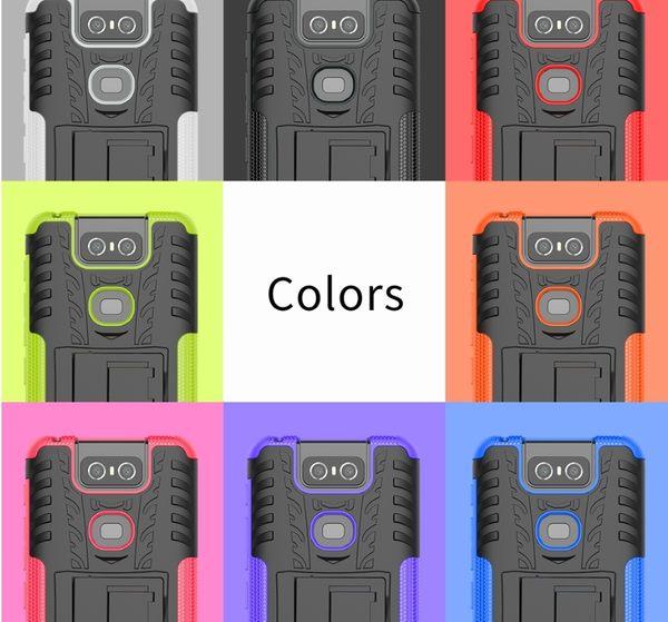 King*Shop~ 華碩6手機殼Zenfone6z二合一防摔保護套ZS630KL支架保護殼
