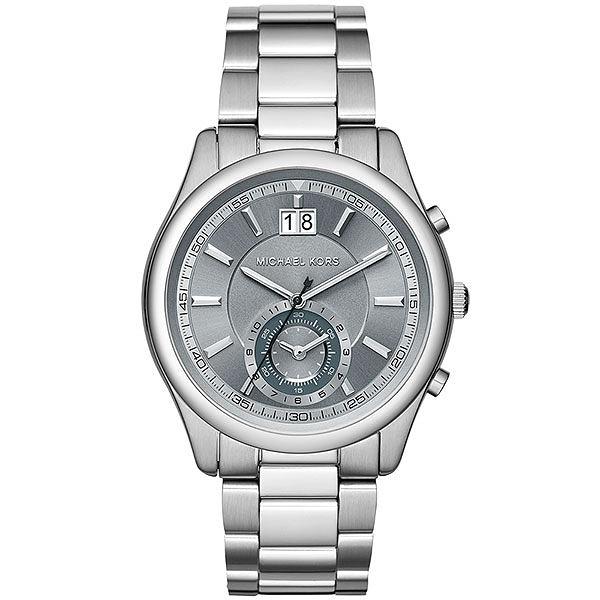 Michael Kors MK 爵士品味大日期計時手錶-灰x銀/42mm MK8417