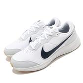 Nike 慢跑鞋 Varsity Leather GS 白 灰 女鞋 大童鞋 基本款 運動鞋 【ACS】 CN9146-100