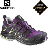 【SALOMON 索羅門 女款 XA PRO 3D GORE-TEX W 越野跑鞋〈宇宙紫/黑〉】375937/休閒鞋/登山鞋