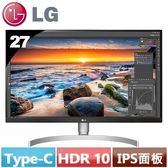LG 27型 UHD 4K IPS液晶顯示器 27UK850-W【送7-11禮券300元】