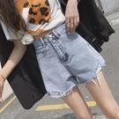 牛仔短褲女夏季年高腰闊腿ins寬鬆韓版顯瘦a字熱褲潮