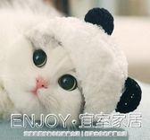 寵物頭飾  寵物帽子可愛熊貓造型變身裝帽貓咪帽子頭套頭飾用品 宜室家居