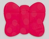 日本 迪士尼 Disney 米妮蝴蝶結造型重覆黏貼濕紙巾專用盒蓋/濕巾蓋-紅 (攜帶包專用)