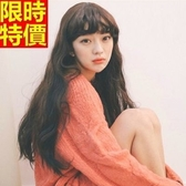 長款假髮-韓國流行空氣瀏海蓬鬆捲度整頂女美髮用品3色68x28【巴黎精品】