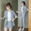 職業套裝~西裝套裝女時尚休閑顯瘦垂感薄款外套 長褲 短褲N511A日韓屋