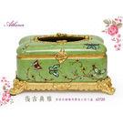 草綠色梅花蝴蝶上掀式有腳面紙盒JSA-E...