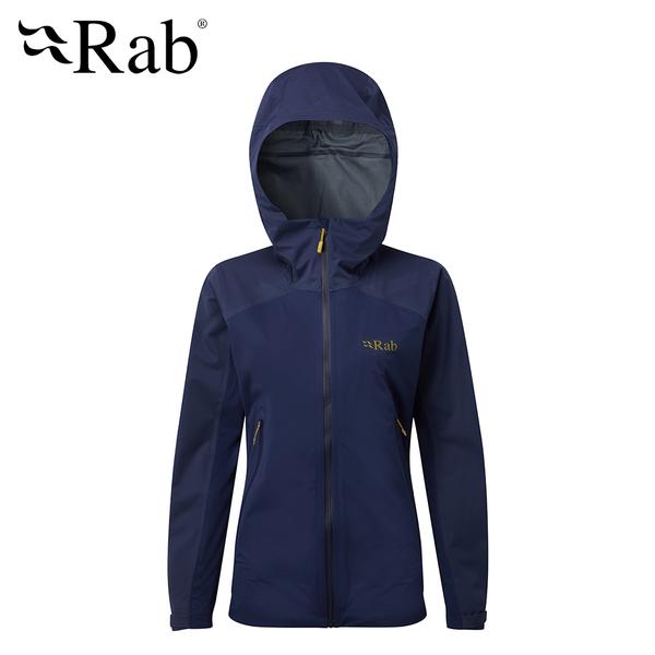英國 RAB Kinetic Alpine Jkt  高透氣彈性防水連帽外套 女款 藍圖 #QWF76