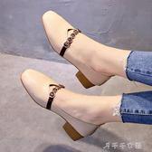 鞋子女百搭韓版學生夏豆豆鞋女平底單鞋女春季休閒奶奶鞋千千女鞋