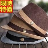 小禮帽-時尚英倫亞麻夏日沙灘復古男爵士帽4色67e24【巴黎精品】