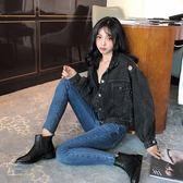 春秋裝新款韓版寬鬆ulzzang長袖牛仔短外套女酷帥氣街頭夾克上衣