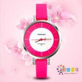 兒童手錶女孩電子錶防水韓版水晶指針錶中學生手錶女童石英錶男孩