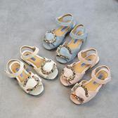 夏季新款兒童公主鞋 鋯石環防滑軟底包頭中大童 LR1804【VIKI菈菈】