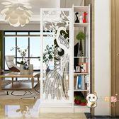 原創現代簡約孔雀雙面間廳玄關櫃隔斷置物架屏風裝飾櫃隔斷櫃WY