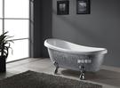 【麗室衛浴】BATHTUB WORLD  銀色馬賽克貴妃造型獨立缸  YG3330M 155*78*75CM