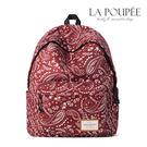 後背包 時尚花卉變形蟲圖騰A4大容量書包-La Poupee樂芙比質感包飾 (預購)