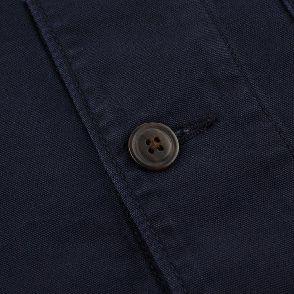 Gap男裝 工裝風翻領長袖外套 769887-靛藍色