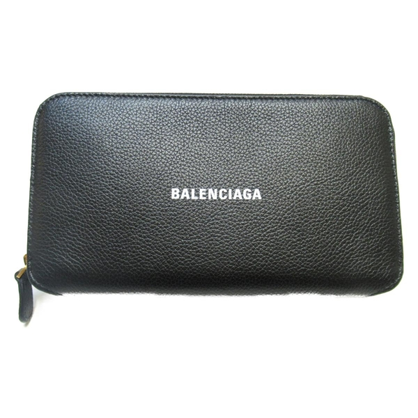 BALENCIAGA 巴黎世家 黑色牛皮長夾 Cash Continental Wallet 594280 【BRAND OFF】