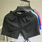 沙灘褲-寬鬆男士純色海邊度假休閒運動短褲潮夏季4分褲 花間公主