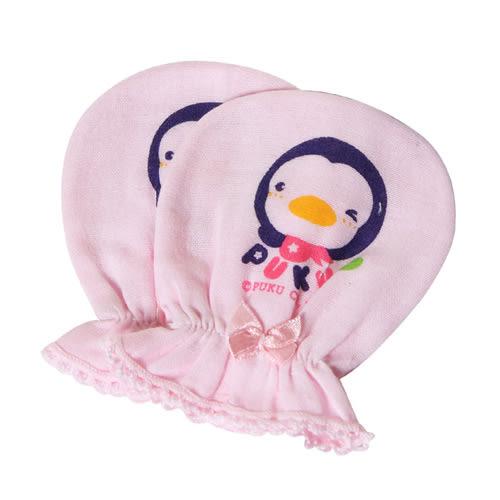 【奇買親子購物網】PUKU 紗布手套(藍/粉/白)