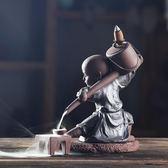 新品創意茶藝倒流香爐 紫砂香薰爐檀香爐觀賞流雲家居客廳茶道擺件