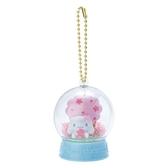 〔小禮堂〕大耳狗 水晶球雪球造型吊飾《藍》雪球掛飾.擺飾.燦爛櫻花系列 4901610-20003