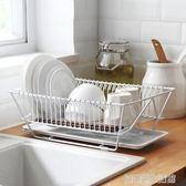 鐵藝廚房單層瀝水碗架瀝水架餐具放碗碟碗筷置物架收納籃 igo