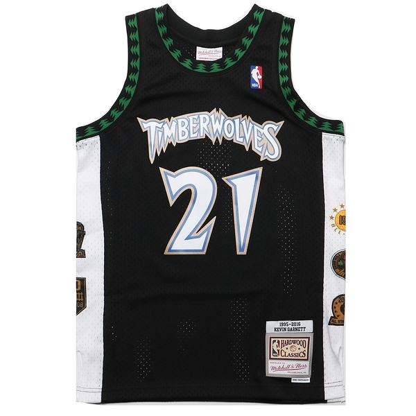 MITCHELL & NESS M&N NBA生涯紀念版球衣 GARNETT 灰狼 黑 (布魯克林) MNSWJG2199A