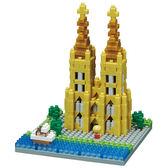 《 Nano Block 迷你積木》【世界主題建築系列】NBH-140 科隆主教座堂 ╭★ JOYBUS玩具百貨