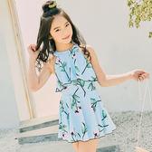 女童泳衣中大童公主連體裙式正韓範兒學生女孩泳裝女生可愛小清新  中元節禮物